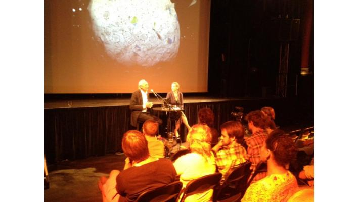 Jorgen Randers and Ingunn Knudsen introducing the film
